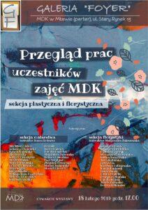 Przegląd prac uczestników zajęć MDK – nowa wystawa w Galerii Foyer