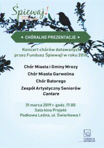 Cantare zaśpiewa w Podkowie Leśnej!