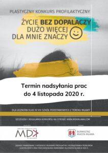 Plastyczny Konkurs Profilaktyczny dla uczniów mławskich szkół podstawowych