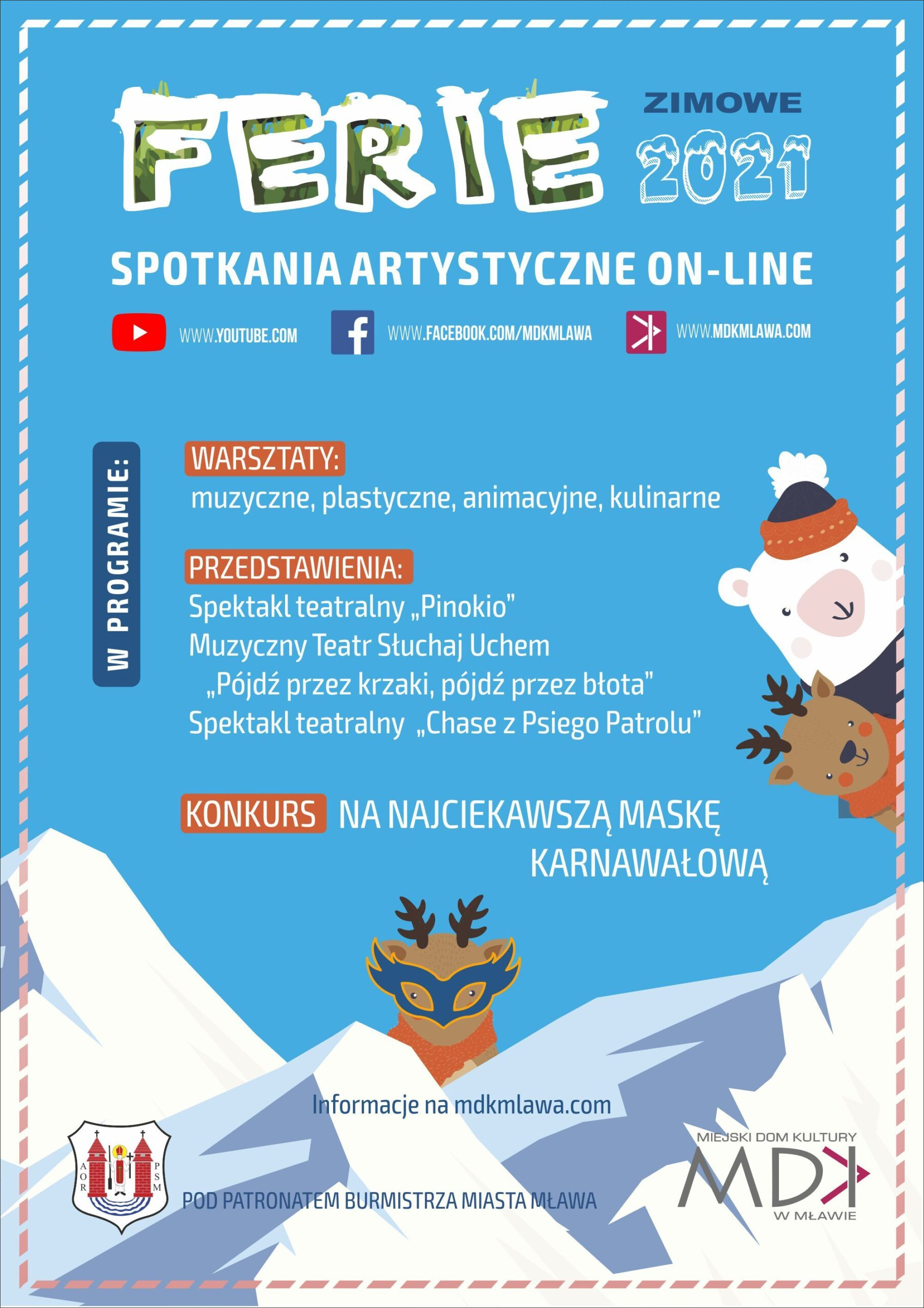 Ferie plakat informacyjny