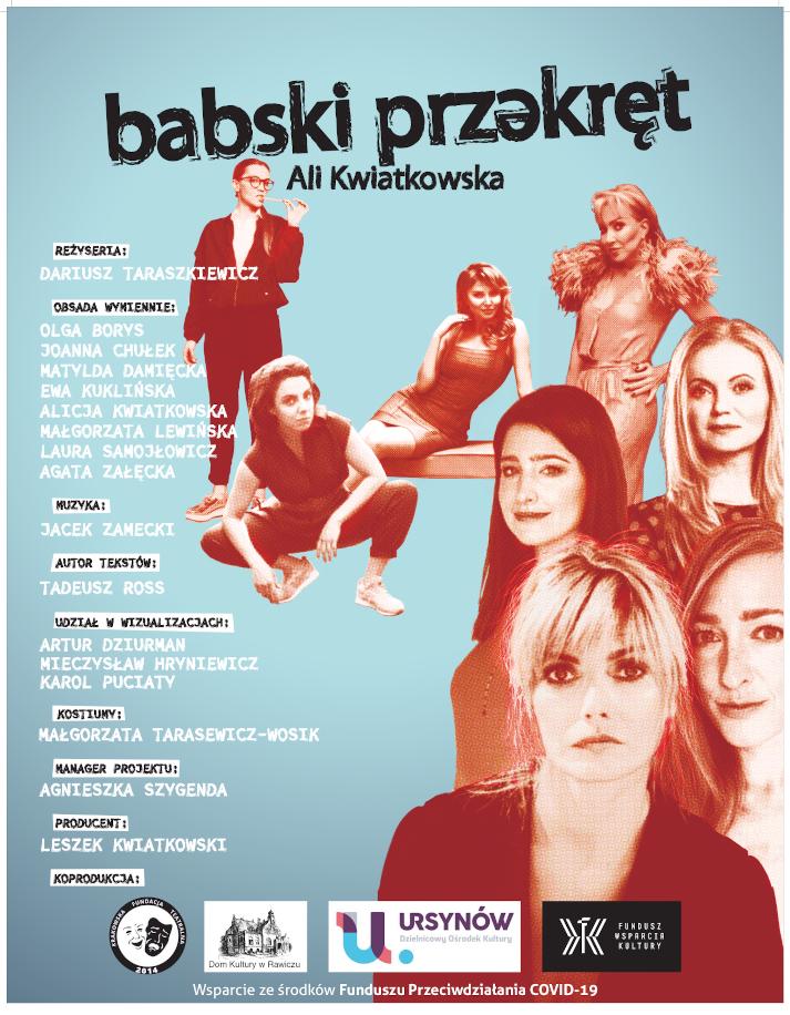 Plakat spektaklu kobiety