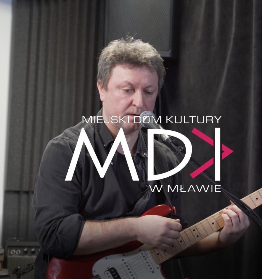 MDK logo instruktor gry na gitarze