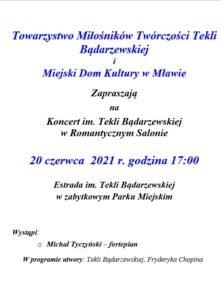 Koncert im. Tekli Bądarzewskiej w Romantycznym Salonie