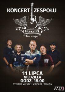 Koncert zespołu Babsztyl już 11 lipca!