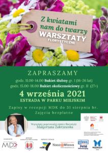 Warsztaty florystyczne – zapisy do 3 września!